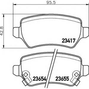 �������� ��������� �������, �������� ������ 2341703 textar - OPEL MERIVA ��� 1.4 16V Twinport LPG