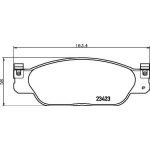 TEXTAR 2342301 Тормозные колодки дисковые