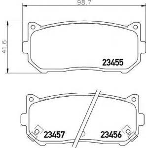 Комплект тормозных колодок, дисковый тормоз 2345501 textar - KIA CLARUS (K9A) седан 1.8 i 16V