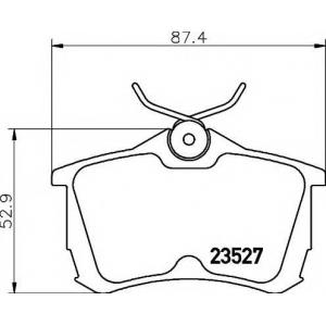 Комплект тормозных колодок, дисковый тормоз 2352701 textar - HONDA ACCORD VII (CG, CK) седан 1.8 i
