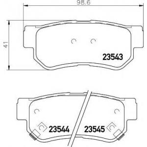 Комплект тормозных колодок, дисковый тормоз 2354301 textar - HYUNDAI SANTA F? I (SM) вездеход закрытый 2.7 4x4