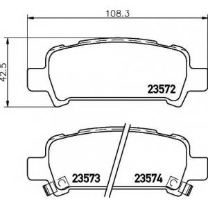 Комплект тормозных колодок, дисковый тормоз 2357202 textar - SUBARU IMPREZA седан (GC) седан 2.0 Turbo GT 4WD