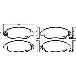 Комплект тормозных колодок, дисковый тормоз 2357701 textar - FORD TRANSIT автобус (FD_ _, FB_ _, FS_ _, FZ_ _, FC_ _) автобус 2.4 DI [RWD] (F_B_, F_C_, F_A_)