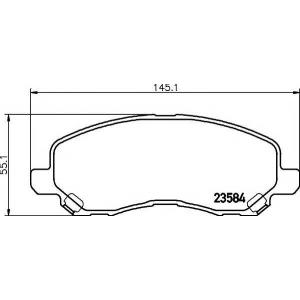 Комплект тормозных колодок, дисковый тормоз 2358401 textar - MITSUBISHI ASX (GA_W_) вездеход закрытый 1.8 DI-D