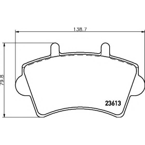TEXTAR 2361301 Комплект тормозных колодок, дисковый тормоз