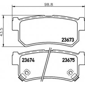 Комплект тормозных колодок, дисковый тормоз 2367301 textar - SSANGYONG KYRON вездеход закрытый 2.7 Xdi