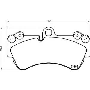 Комплект тормозных колодок, дисковый тормоз 2369202 textar - VW TOUAREG (7LA, 7L6, 7L7) вездеход закрытый 3.2 V6