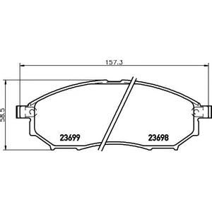 Комплект тормозных колодок, дисковый тормоз 2369801 textar - NISSAN NAVARA (D40) пикап 2.5 dCi 4WD