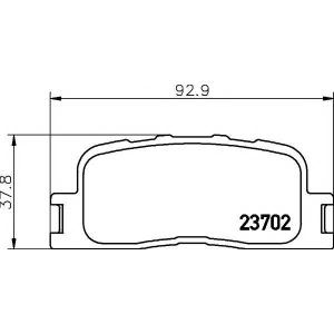 Комплект тормозных колодок, дисковый тормоз 2370201 textar - TOYOTA WISH вэн (ZGE2_) вэн 2.0