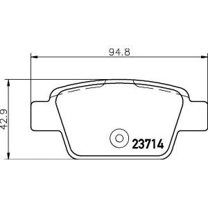 TEXTAR 2371401 Тормозные колодки дисковые TEXTAR