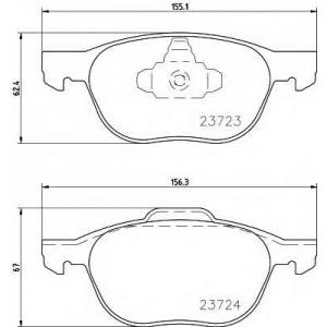 TEXTAR 2372301 Колодки торм передние