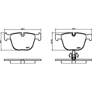 Комплект тормозных колодок, дисковый тормоз 2373101 textar - BMW 7 (F01, F02, F03, F04) седан ActiveHybrid
