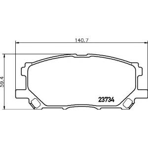 2373401 textar Комплект тормозных колодок, дисковый тормоз LEXUS RX вездеход закрытый 300