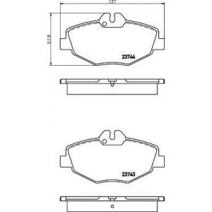Комплект тормозных колодок, дисковый тормоз 2374303 textar - MERCEDES-BENZ E-CLASS T-Model (S211) универсал E 220 T CDI