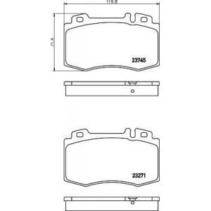 Комплект тормозных колодок, дисковый тормоз 2374502 textar - MERCEDES-BENZ C-CLASS T-Model (S203) универсал C 220 CDI