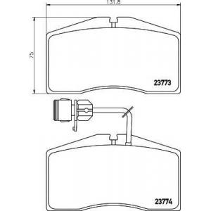 TEXTAR 2377301 Тормозные колодки дисковые TEXTAR