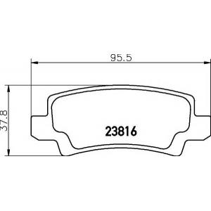 TEXTAR 2381601 Toyota TEXTAR 2381601 Колодки тормозные з.