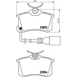 TEXTAR 2382301 Тормозные колодки дисковые