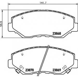 Комплект тормозных колодок, дисковый тормоз 2386801 textar - HONDA CR-V II (RD_) вездеход закрытый 2.0