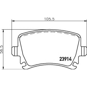 Комплект тормозных колодок, дисковый тормоз 2391401 textar - VW GOLF PLUS (5M1, 521) Наклонная задняя часть 1.6 BiFuel