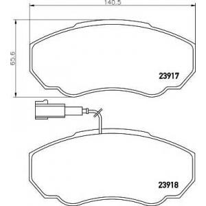 TEXTAR 2391701 Колодки тормозные, к-кт.