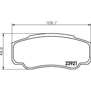 Комплект тормозных колодок, дисковый тормоз 2392101 textar - PEUGEOT BOXER автобус (230P) автобус 2.0 i