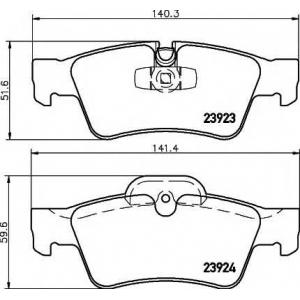 Комплект тормозных колодок, дисковый тормоз 2392301 textar - MERCEDES-BENZ G-CLASS (W463) вездеход закрытый G 55 AMG (463.270, 463.271)