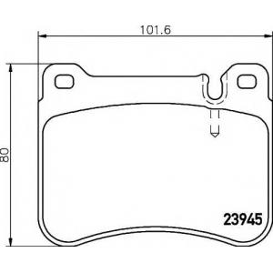 TEXTAR 2394501 Тормозные колодки