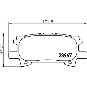 Комплект тормозных колодок, дисковый тормоз 2396701 textar - TOYOTA HARRIER (GSU3_, MHU3_, ACU3_) вэн 2.4 VVTi