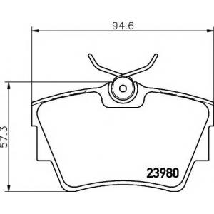 TEXTAR 2398001 Тормозные колодки дисковые TEXTAR