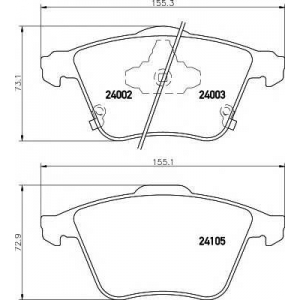 TEXTAR 2400201 Колодки тормозные