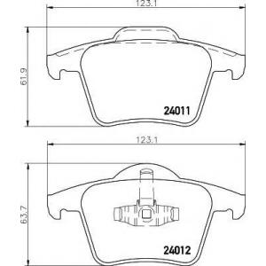 Комплект тормозных колодок, дисковый тормоз 2401101 textar - VOLVO XC90 универсал D5