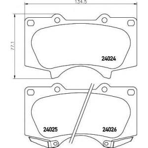 TEXTAR 2402401 Тормозные колодки дисковые TEXTAR