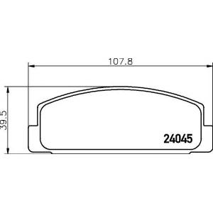 Комплект тормозных колодок, дисковый тормоз 2404501 textar - MAZDA RX 7 I (SA) купе Wankel