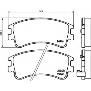 Комплект тормозных колодок, дисковый тормоз 2404601 textar - MAZDA 6 Hatchback (GG) Наклонная задняя часть 2.0