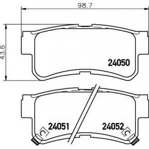 Комплект тормозных колодок, дисковый тормоз 2405001 textar - DAEWOO MUSSO (FJ) вездеход закрытый 2.3