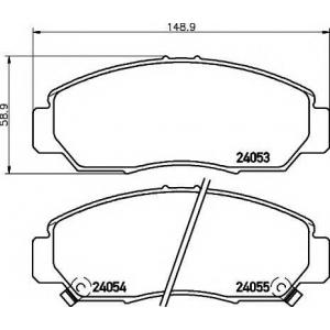 Комплект тормозных колодок, дисковый тормоз 2405301 textar - HONDA FR-V (BE) Наклонная задняя часть 2.2 i CTDi