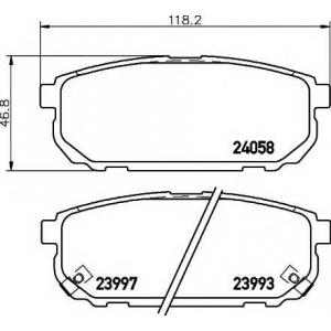 Комплект тормозных колодок, дисковый тормоз 2405801 textar - KIA SORENTO (JC) вездеход закрытый 2.5 CRDi