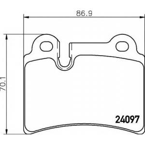 Комплект тормозных колодок, дисковый тормоз 2409701 textar - VW TOUAREG (7LA, 7L6, 7L7) вездеход закрытый 3.2 V6