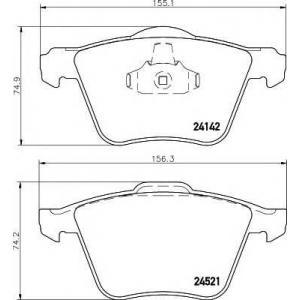 Комплект тормозных колодок, дисковый тормоз 2414201 textar - VOLVO V60 универсал 2.0 T