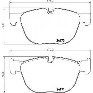 Комплект тормозных колодок, дисковый тормоз 2417001 textar - BMW X5 (E70) вездеход закрытый xDrive 30 d