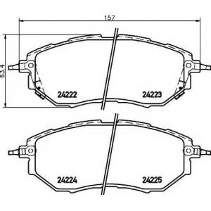 TEXTAR 2422201 Тормозные колодки дисковые TEXTAR