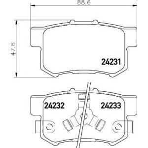 Комплект тормозных колодок, дисковый тормоз 2423101 textar - HONDA (DONGFENG) CR-V вездеход закрытый вездеход закрытый 2.4 4x4