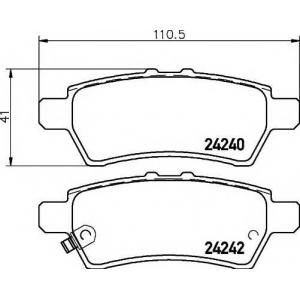 Комплект тормозных колодок, дисковый тормоз 2424001 textar - NISSAN NAVARA (D40) пикап 2.5 dCi 4WD
