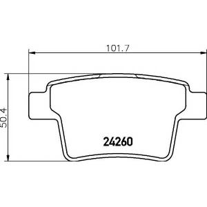 TEXTAR 2426001 Тормозные колодки дисковые TEXTAR