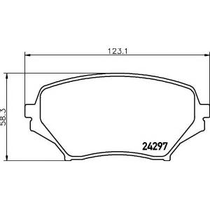 TEXTAR 2429701 Тормозные колодки дисковые