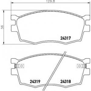 Комплект тормозных колодок, дисковый тормоз 2431701 textar - DODGE ATTITUDE седан 1.3