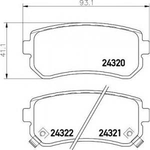 Комплект тормозных колодок, дисковый тормоз 2432001 textar - HYUNDAI i30 (GD) Наклонная задняя часть 1.4