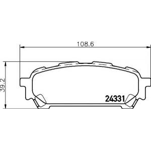 TEXTAR 2433101 Тормозные колодки дисковые TEXTAR