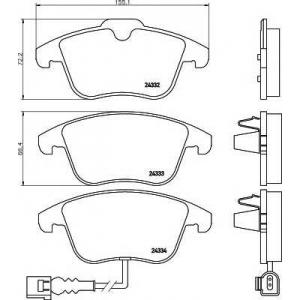 TEXTAR 2433301 Тормозные колодки